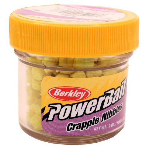 Powerbait Crappie Nibbles Dough Bait - Yellow