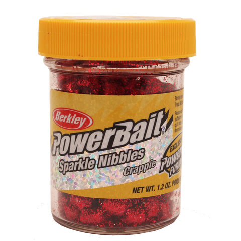 PowerBait Crappie Sparkle Nibbles Dough Bait - Wildfire
