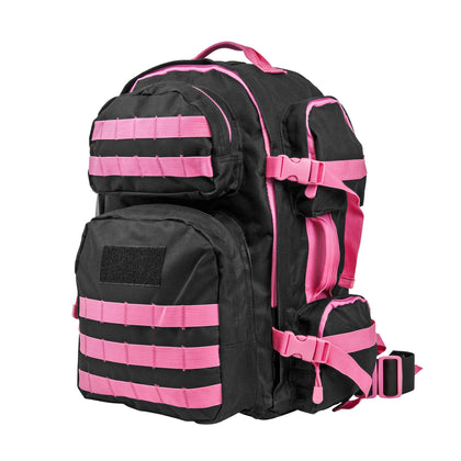 Tactical Backpack - Black w-Pink