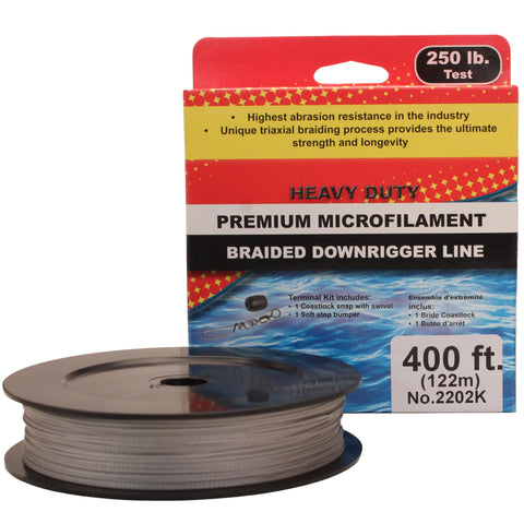 PBF Downrigger Line - 250 lb Test, 400 Feet Spool Kit