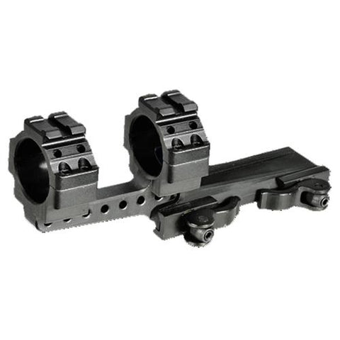 UTG Integral 30mm Offset QD Mount, 2 Top Slots, 100mm Base, Black