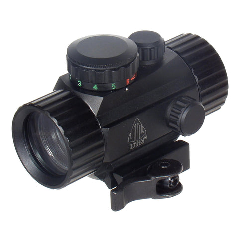 "UTG 3.8"" Red-Green Circle Dot Sight w-QD Mount"