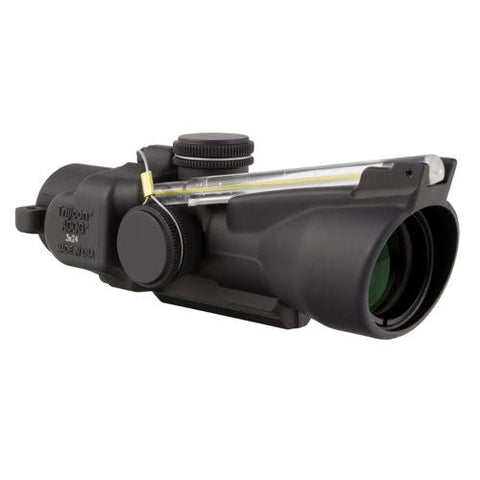 ACOG 3x24mm Compact Low Height Scope - Dual Illuminated Amber Horseshoe-Dot 7.62x39-123 Grains Ballistic Reticle, Black
