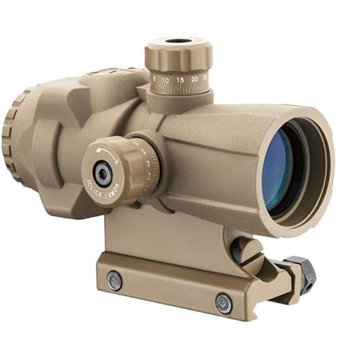 AR-X Pro Prism Scope - 3x30mm, Illuminated Cross Dot Reticle, Tan