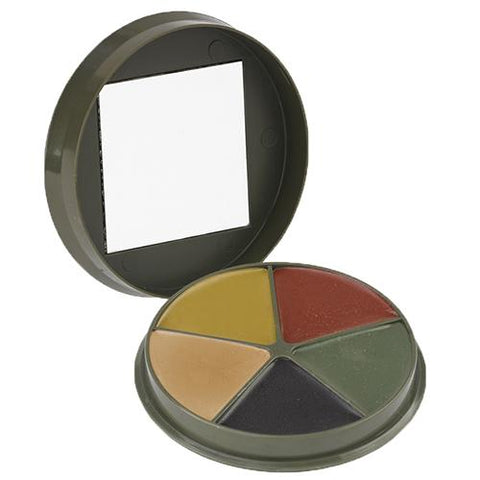 5 Color Camo Cream, Compact with Mirror