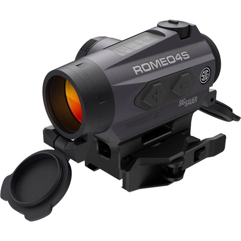 Romeo4S Compact Red-Dot Sight - with Solar Cell, Circle Plex Reticle, Graphite