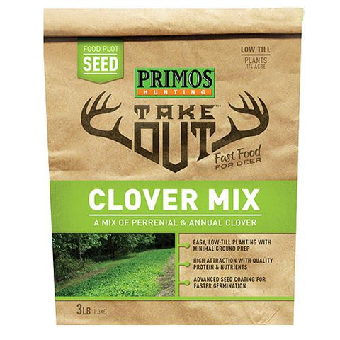 Take Out - Clover Blend Food Plot Seed, 3 lb Bag