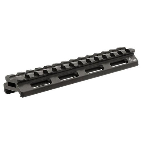"UTG Super Slim Picatinny Riser Mount - 1-2"" Height, 13 Slots, Black"