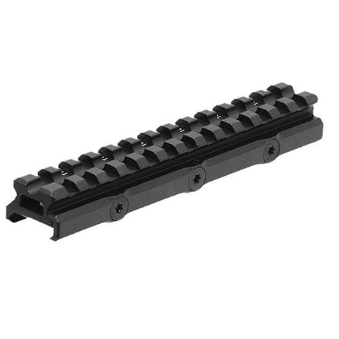 UTG Super Slim 20 MOA Elevated Picatinny Mount, 13 Slot, Black