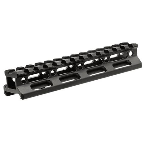 "UTG Super Slim Picatinny Riser Mount - 3-4"" Height,13 Slots, Black"