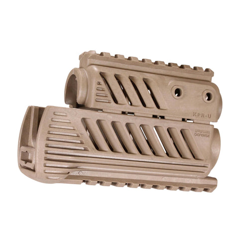 "AKS74U ""rinkov"" Polymer Quad Rail Handguards - Flat Dark Earth"