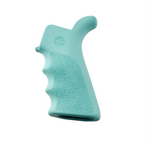 AR-15-M-16 Rubber Grip - Beavertail with Finger Grooves, Aqua