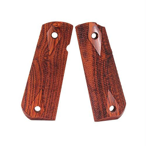 1911 Government Grips - Round Heel, Ambidextrous Safety Cut, Smooth, Coco Bolo