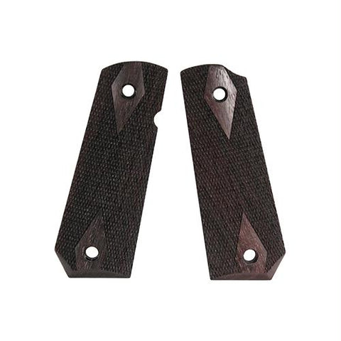 1911 Government Grips - Bobtail, Ambidextrous Safety Cut, Checkered, Rosewood
