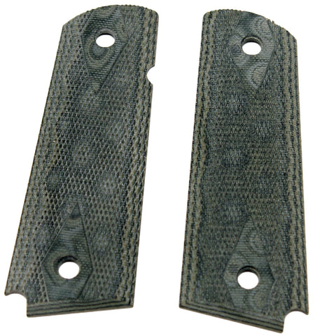 "1911 Government-Commander 3-16"" Thin Grips - G-10 Checkered G-Mascus Green"