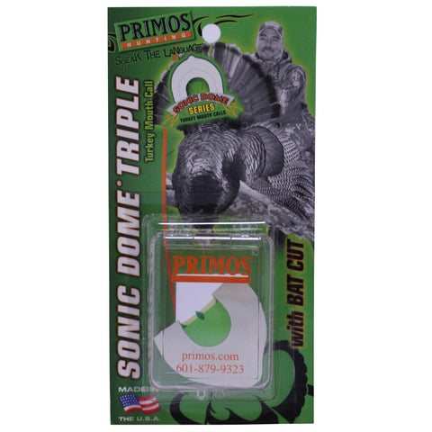 Turkey Mouth Call - Sonic Dome Triple with Bat Cut