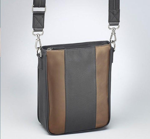 GTM-35 Lambskin Vertical Cross Body - 2 Colors