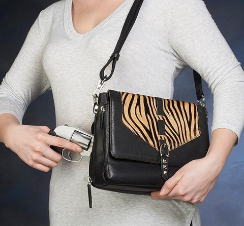 GTM-73 ZEBRA PRINT SHOULDER CLUTCH