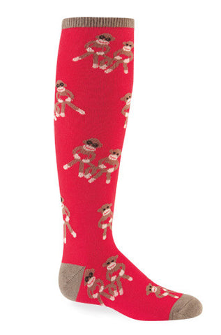 Youth Sock Monkey Knee Socks