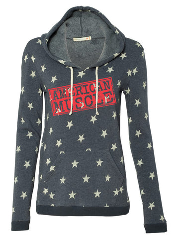 Women's American Muscle Star Tri Blend Sweat Shirt