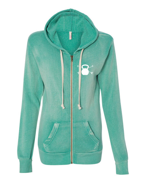 Strength & Beauty Jade Hooded Fleece Sweatshirt