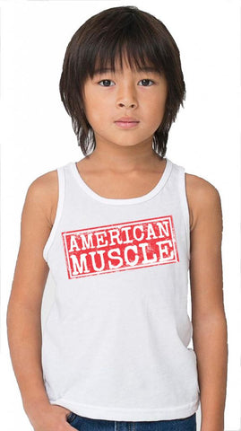 Youth American Muscle White Tank
