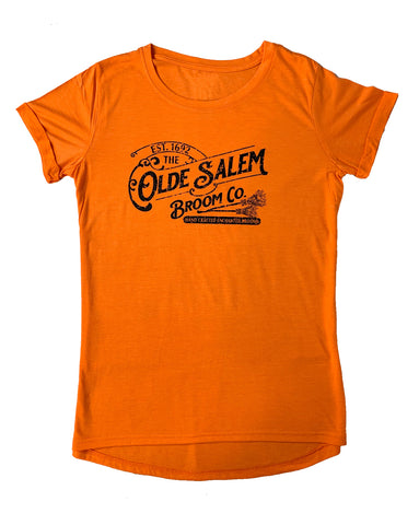 Women's Salem Broom Orange Tunic Loose Casual T-Shirt Top