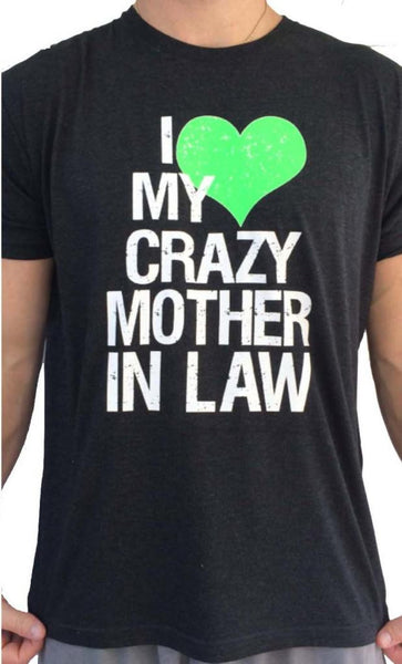 Mens Crazy Mother In Law Triblend Tshirt