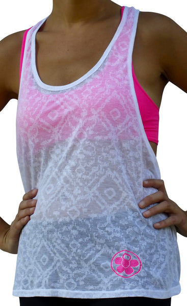 Fitness Moves White Singlet Tank