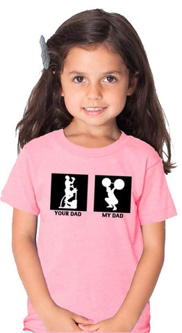 My Dad Childrens T-Shirt Pink