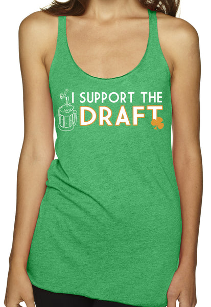 I Support The Draft TriBlend Tank Top Green