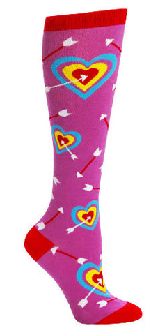 Cupid Bullseye Knee Socks