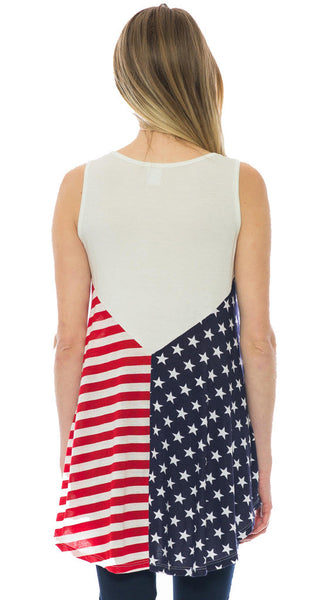 USA Stars & Stripe Tunic Tank