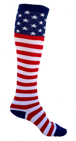 USA Flag Knee Socks