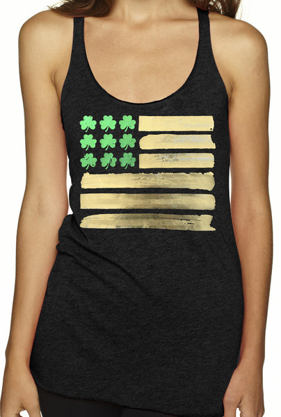 St. Patricks Day Flag Charcoal Tri Blend Tank Top