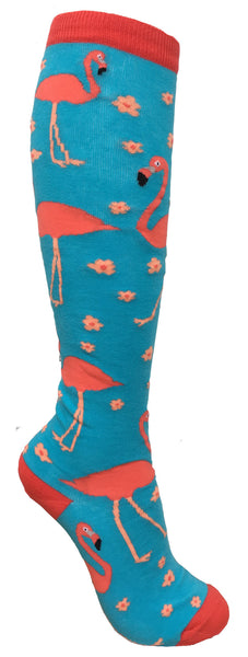 Flamingo Knee High Socks
