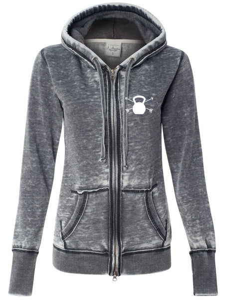 Strength & Beauty Graphite Hooded Fleece Sweatshirt