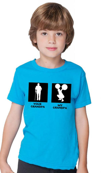 My Grandpa Children's Blue T-shirt