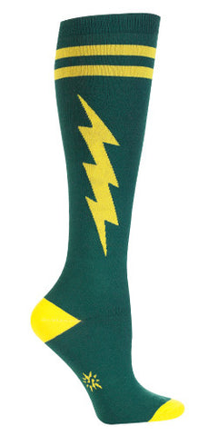 Green & Gold Super Hero Knee Socks