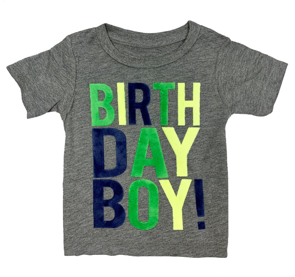 Heather Grey Birthday Boy T-Shirt