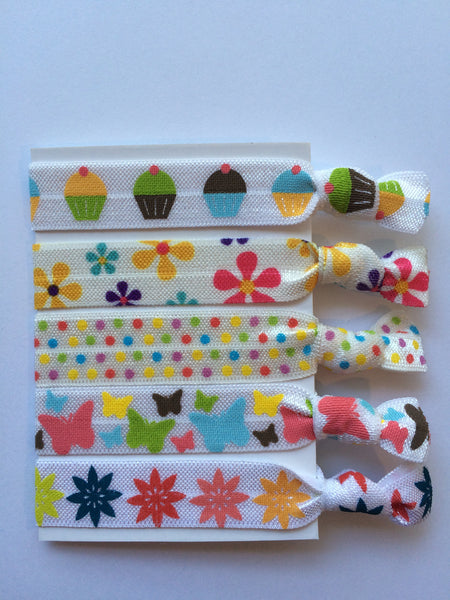 Hair Ties Pastel Prints