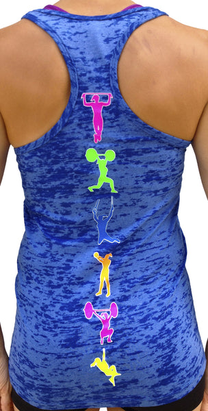Fitness Moves Royal Burnout Tank