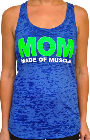 Made Of Muscle Royal Blue Burnout Tank