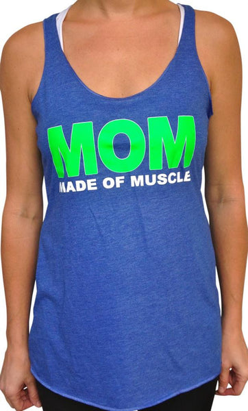 Made Of Muscle Royal Blue Tri Blend Tank