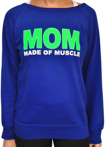 Made Of Muscle Royal Blue Long Sleeve Terry Scoop Neck