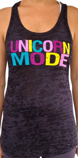 Unicorn Mode Black Burnout Tank Top