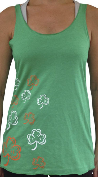 Multi Shamrock TriBlend Tank Top Green