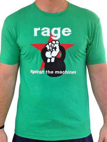Mens Rage Against The Machines Triblend Tshirt Green