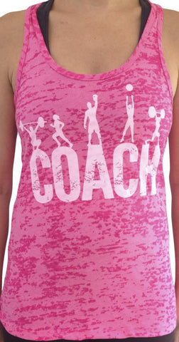 Coach Shocking Pink Burnout Tank
