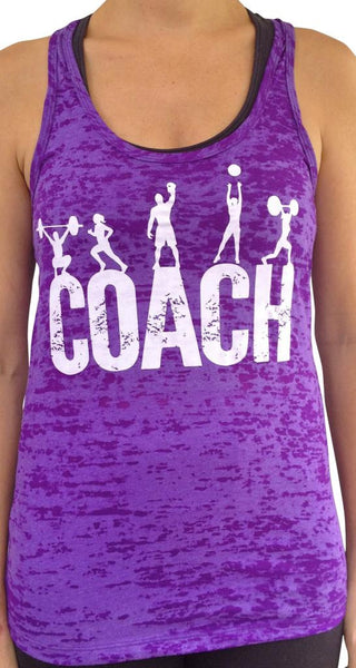 Coach Purple Burnout Tank
